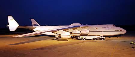 Charter Antonov - Transport d'un colis de 176 tonnes par Airnautic
