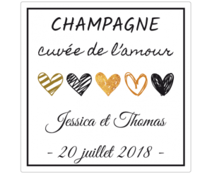 etiquette adhesive champagne